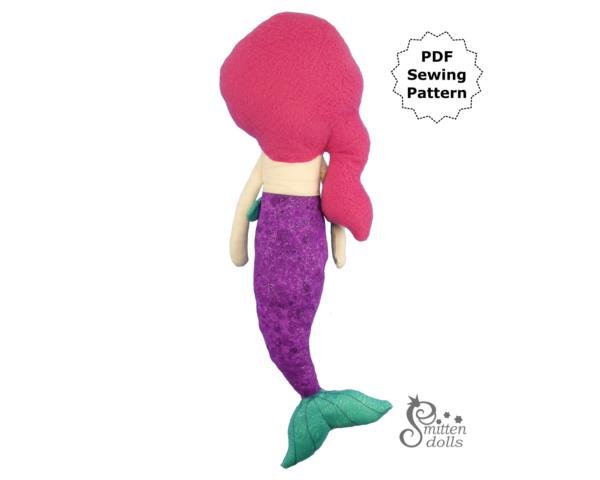 Mermaid Pattern Back View