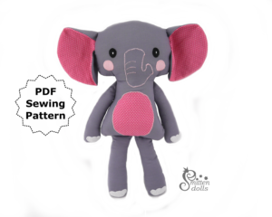 Elephant Sewing Pattern - Front View