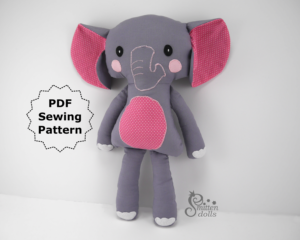 Elephant Sewing Pattern - Standing View