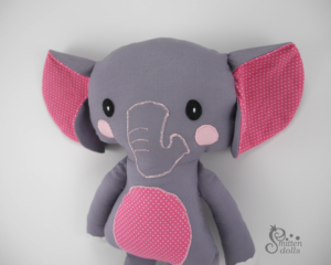 Elephant Sewing Pattern - Face View