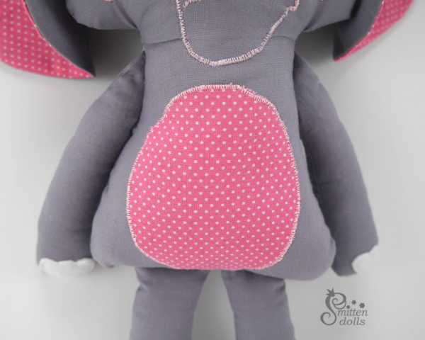 Elephant Sewing Pattern - Belly Applique