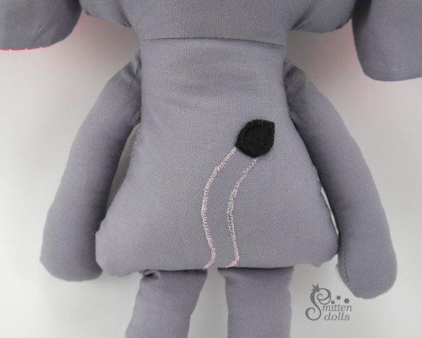 Elephant Sewing Pattern - Back View
