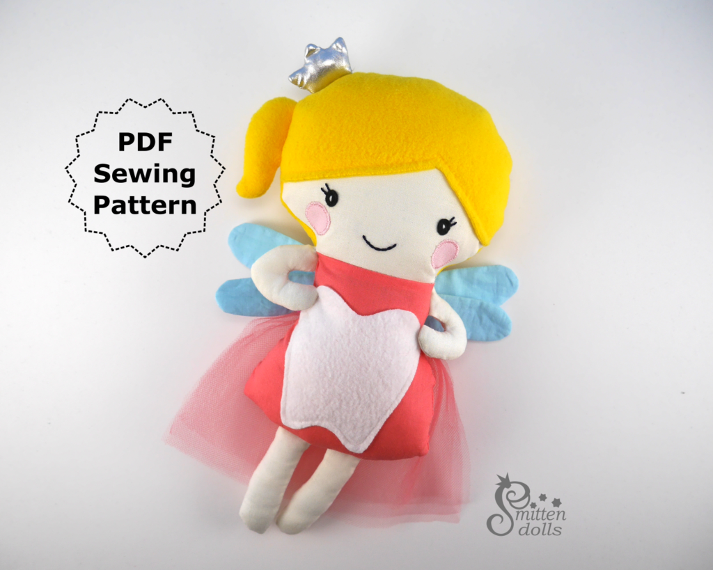 Tooth Fairy Doll - Slanted View