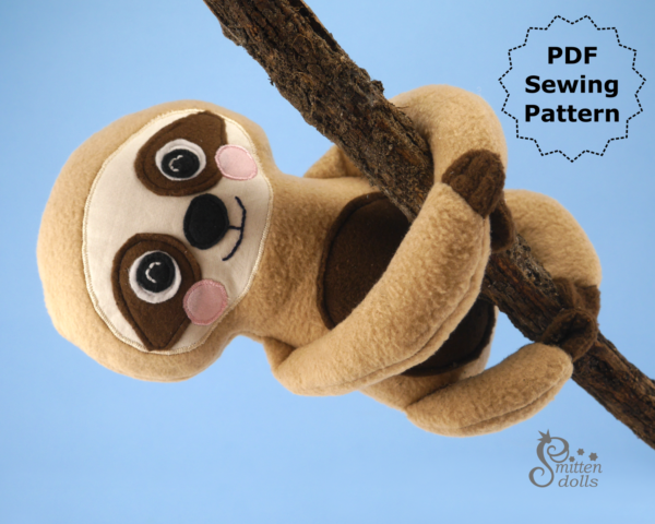 Sloth Pattern Hanging on a tree